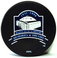 "The motto of the memory of Maple Leaf Gardens: ""Memories and Dreams"""