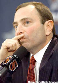 "Gary Bettman: ""I'm liking my personal agenda. I'm distressed to learn I don't have many friends."""